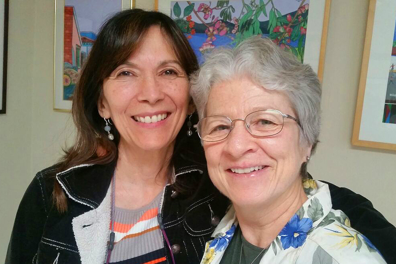 Nuestra fundadora Solveig con Launa Fannon, una alumna muy querida