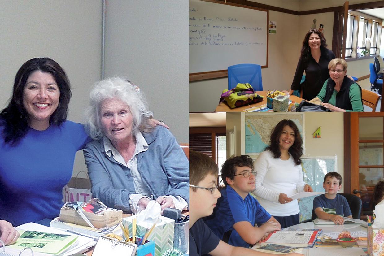 Nuestra teacher Olga en clases